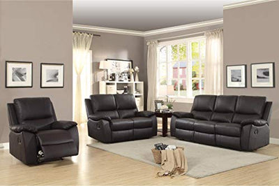Guadet Double Reclining Love Seat in Brown Leather