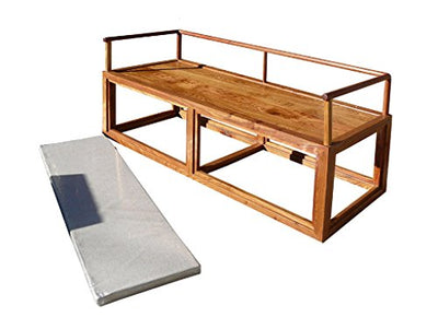 Rosewood Chinese Simple Zen Design Daybed Bench Chair Acs1190
