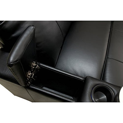 Octane Turbo XL700 Row of 2 Seats, Straight Row in Black Leather with Power Recline