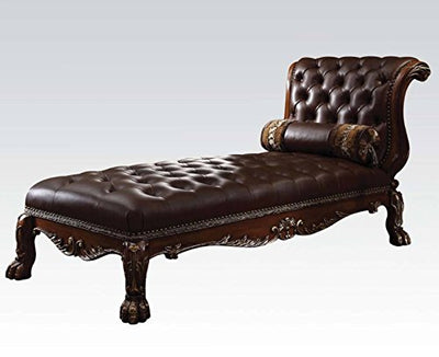 Acme Furniture ACME Dresden Cherry Oak Chaise with 1 Pillow