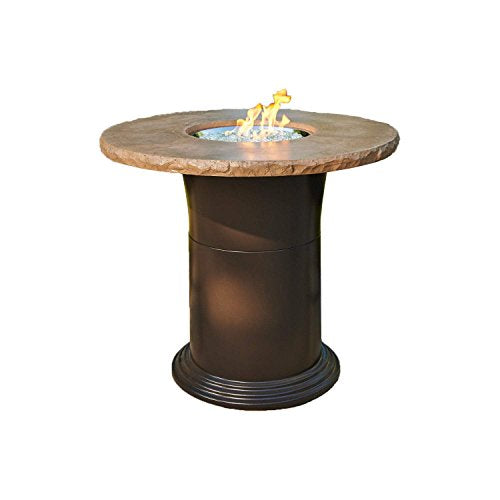 Outdoor Greatroom Colonial Pub Height Fire Pit Table, Mocha