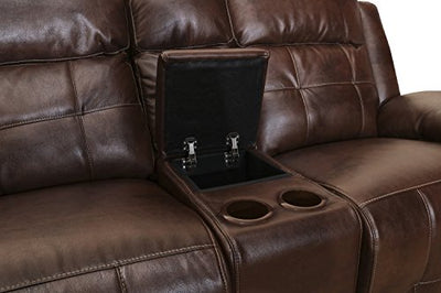 New Classic 22-2228-25PH-PEN Clayton Full Power Console Loveseat, Penny