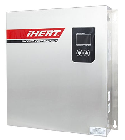 "iHeat Tankless AHS18-D 240V 75A 18KW Stainless Steel Enclosure 3/4 MIP 16"" by 13.5"" by 3.5"" Electric Water Heater, 13.7 lb"