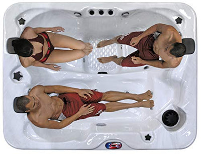 American Spas AM-534LS 3-Person 34-Jet Longer Spa with Bluetooth Stereo System, Sterling and Mist
