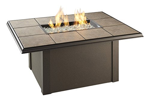 The Outdoor GreatRoom Company Outdoor Great Room Napa Valley Fire Pit Table with Brown Base
