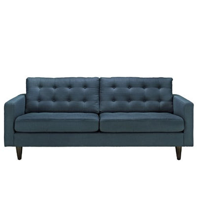 Modway Empress Mid-Century Modern Upholstered Fabric Sofa In Azure