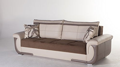 Lima S Two-Tone Best Brown Sofa Sleeper