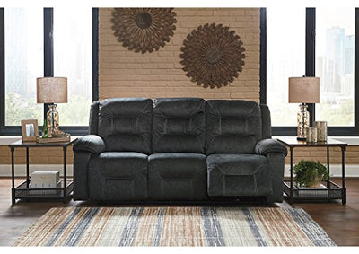 Signature Design by Ashley 8150215 Waldheim Power Reclining Sofa, Gray