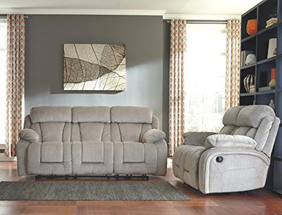 Ashley Furniture Signature Design - Stricklin Reclining Loveseat - Contemporary Upholstered Recliner - Pebble