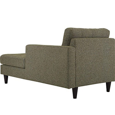 Modway Empress Right Facing Upholstered Chaise Lounge in Oatmeal