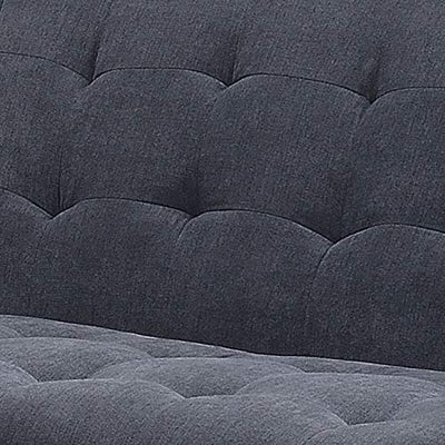 AC Pacific Kendall Colletion Tufted Loveseat Upholstered Mid-Century, Grey