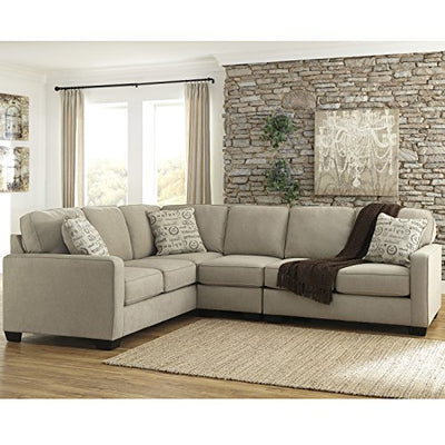 Flash Furniture Signature Design by Ashley Alenya 3-Piece LAF Sofa Sectional in Quartz Microfiber