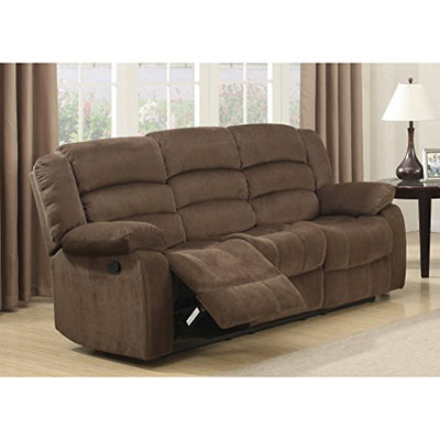 Christies Home Living Bill Contemporary Room Reclining Sofa, Brown