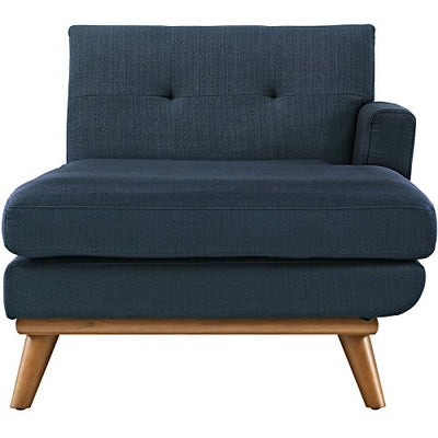Modern Contemporary Right-Arm Chaise , Navy, Fabric