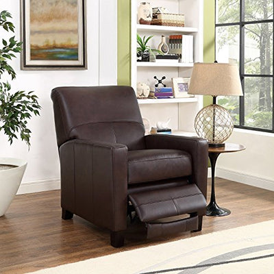 Amax Leather Conway Recliner, Dark Brown