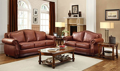 Homelegance 9616BRW-3 Sofa, Dark Brown Bonded Leather
