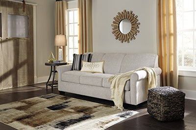 Ashley Furniture Signature Design - Cansler Contemporary Sofa Sleeper - Queen Size Mattress Included - Pebble