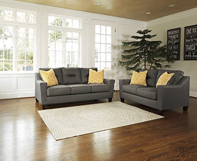 Benchcraft - Forsan Nuvella Contemporary Sofa Sleeper - Queen Size Mattress Included - Gray