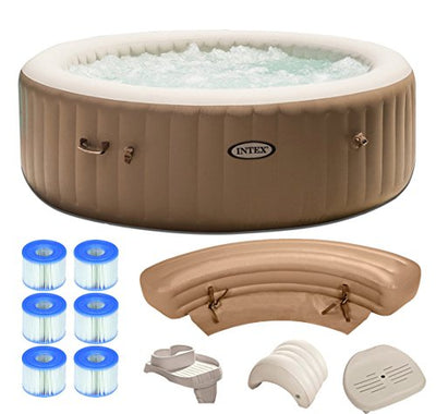 Intex Pure Spa 6-Person Inflatable Portable Hot Tub Ultimate Bundle Package