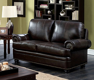 HOMES: Inside + Out IDF-6318DB-LV Dallas Transitional Loveseat