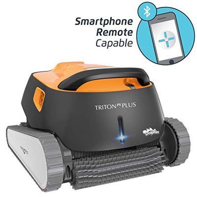 Dolphin Triton Plus Robotic Pool Cleaner with PowerStream and Bluetooth Ideal for Pools Up to 50 Feet