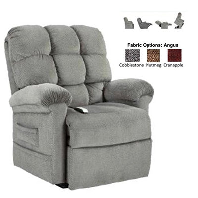 NM-1653 (Nutmeg) Mega Motion Saturn Ultimate Power Recliner and Chaise Lounger. (This Recliner is in Nutmeg, Shown In Swatch) Includes Inside Delivery and Setup.