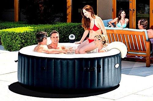 Skroutz Inflatable Spas And Hot Tubs 6 Person Portable Heated Bubble Cobalt Blue Color