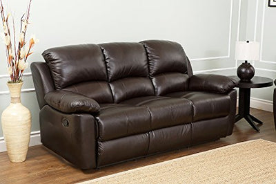 Abbyson® Westwood Top Grain Leather Sofa, Brown