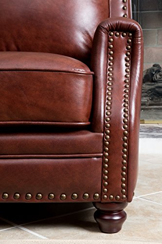 Abbyson® Bel Air Hand Rubbed Leather Sofa