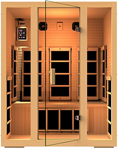 JNH Lifestyles Joyous 3 Person Canadian Hemlock Wood 8 Carbon Fiber Heaters 5 Year Warranty