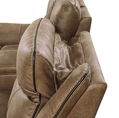 MStar Cameron Dual Reclining Loveseat with Power Adjustable Headrests, Storage, USB Charging Ports, AC Outlets and Memory Foam Seat Toppers