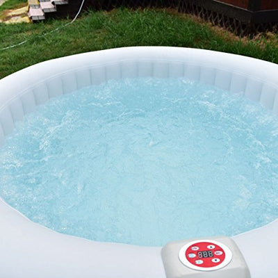 CWY Portable Inflatable Bubble Massage Spa Hot Tub 6 Person Relaxing Outdoor by Eight24hours