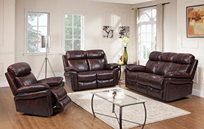 Oliver Pierce OP0034 Hudson Reclining Leather, Sofa, Brown