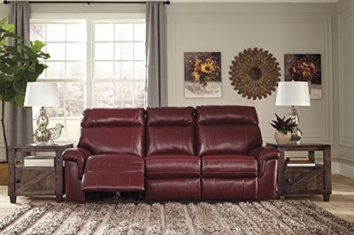 Signature Design by Ashley 5620215 The Duvic Power Reclining Sofa, Crimson