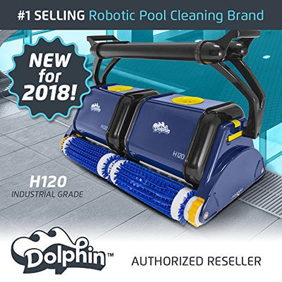 Dolphin H120 Industrial Grade Robotic Pool Cleaner Ideal for Commercial Pools Up To 120 Feet