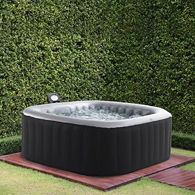 MSPA Lite Alpine Square Relaxation and Hydrotherapy Outdoor Spa M-009LS