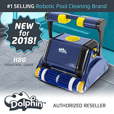 Dolphin H80 Industrial Grade Robotic Pool Cleaner Ideal for Commercial Pools Up To 80 Feet
