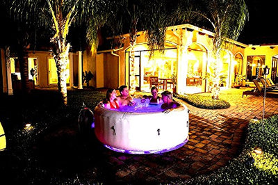 Skroutz Ιnflatable Ηot Τub Led Light Show Fast Easy Set Up 4-6 Person Capacity Outdoor Indoor Relaxation & Therapy