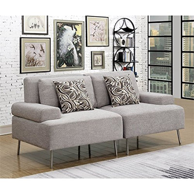 Furniture of America Sabi Modular Loveseat in Gray