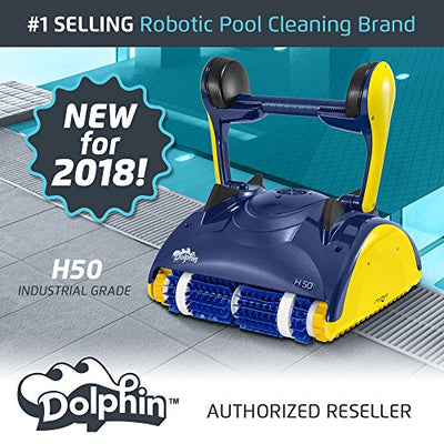 Dolphin H50 Industrial Grade Robotic Pool Cleaner Ideal for Commercial Pools Up To 50 Feet