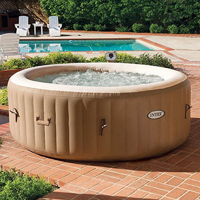 Intex Pure Spa Inflatable 4 Person Hot Tub with Cup Holder Tray