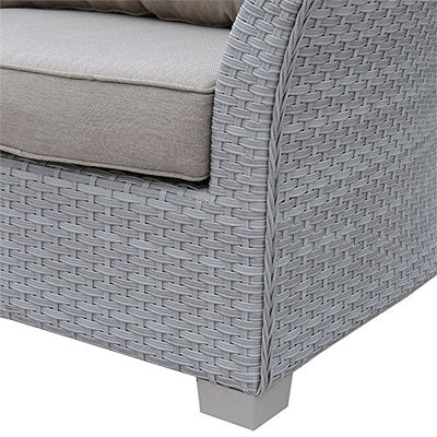 Furniture of America Hampton Patio Sofa in Gray