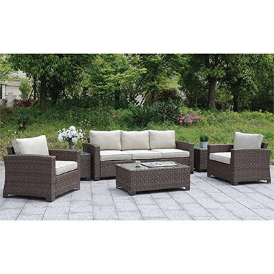 Furniture of America Condor Patio Sofa in Brown