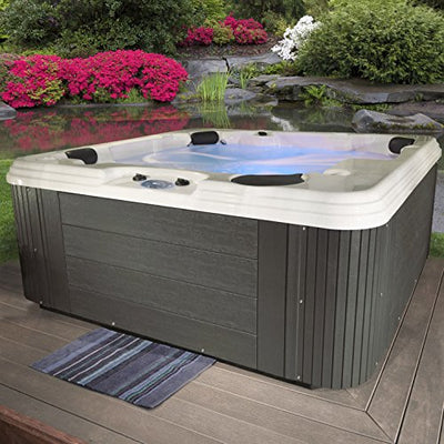 Essential Hot Tubs SS215377403 Polara-50 Jet Hot Tub, Grey