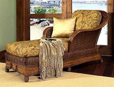 Boca Rattan 80650-OG-66186-O-253157 Moroccan Chaise Lounge w Cushion w Urban Mahogany, 642, Brown