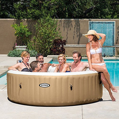 Intex PureSpa 6-Person Inflatable Hot Tub with Drink Tray & Headrest