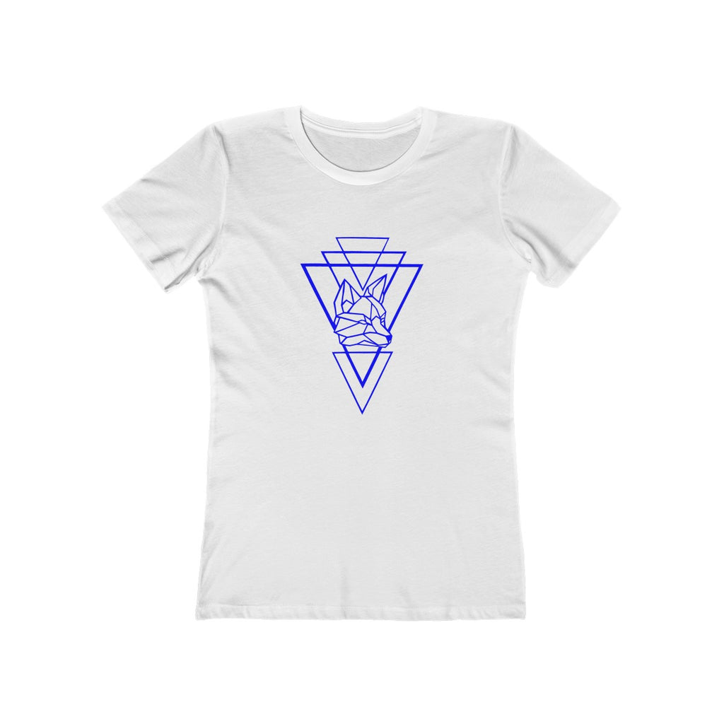 Riding With Nick - Blue - Women's The Boyfriend Tee