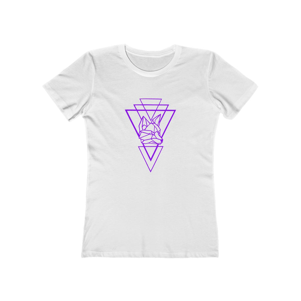 Riding With Nick - Purple - Women's The Boyfriend Tee