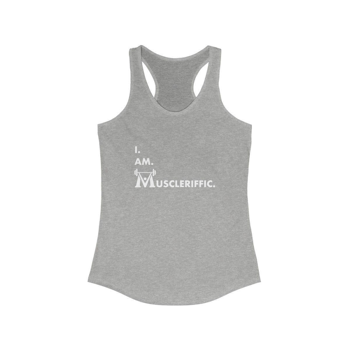 Women's I.Am.Muscleriffic. Racerback Tank