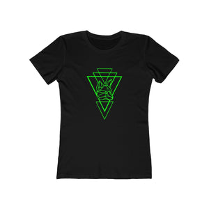 Riding With Nick - Green - Women's The Boyfriend Tee